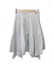 V.W. RED LABEL(ヴィヴィアン ウエストウッド レッドレーベル)の古着「変形フレアスカート」|ライトグレー