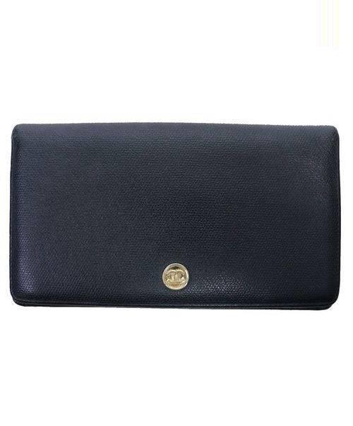 1fca63aed941 CHANEL (シャネル) ココマーク2つ折り財布 ブラック サイズ:下記参照 12714318. CHANEL