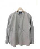 KIIT(キート)の古着「起毛ツイルプルオーバーシャツ」|ライトグレー