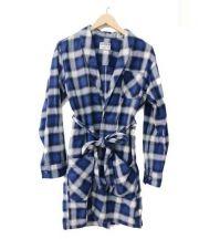 LUKER BY NEIGHBOR HOOD(ルーカーバイネイバーフッド)の古着「ガウンチェックシャツ」 ブルー×ホワイト
