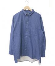 Porter Classic(ポータークラシック)の古着「刺繍シャツ」 ブルー
