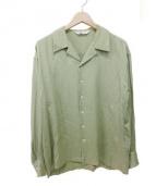 SOE(ソーイ)の古着「オープンカラーシャツ」 黄緑