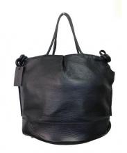 PotioR(ポティオール)の古着「カーフレザー巾着トートバッグ」 ブラック