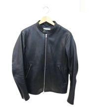 BEAUTY&YOUTH UNITED ARROWS(ビューティアンドユース ユナイテッドアローズ)の古着「シングルライダースジャケット」|ブラック