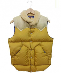 RockyMountainFeatherBed(ロッキーマウンテンフェザーベッド)の古着「CHRISTY VEST」|イエロー