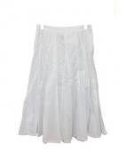 COMME des GARCONS tricot(コムデギャルソントリコ)の古着「ミディスカート」|ホワイト