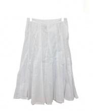 COMME des GARCONS tricot(コムデギャルソントリコ)の古着「ミディスカート」 ホワイト