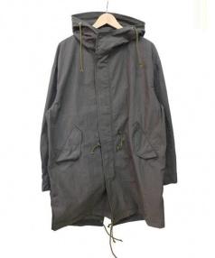 Purple&Yellow(パープルアンドイエロー)の古着「綿ナイロンワッシャーモッズコート」|カーキ