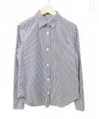 DEUXIEME CLASSE(ドゥーズィエムクラス)の古着「ストライプシャツ」|ホワイト×ブラック