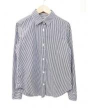 DEUXIEME CLASSE(ドゥーズィエムクラス)の古着「ストライプシャツ」 ホワイト×ブラック