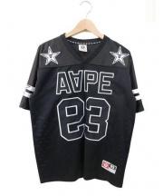 A BATHING APE(ア ベイシング エイプ)の古着「フットボールシャツ」 ブラック
