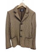 CABANE de ZUCCa(カバンドズッカ)の古着「ガンクラブジャガードジャケット」|ブラウン