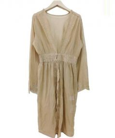 UNGRID(アングリッド)の古着「スカラップ刺繍ガウン」 ベージュ