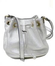 GIANNI NOTARO(ジャンニ ノターロ)の古着「レザー巾着ショルダーバッグ」|シルバー
