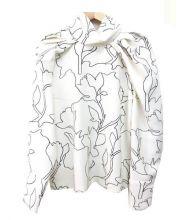 CARVEN(カルヴェン)の古着「ジャガードブラウス」 ホワイト