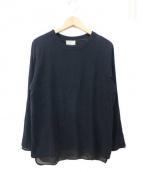 BED J.W FORD(ベッドフォード)の古着「裾レイヤードカットソー」|ブラック