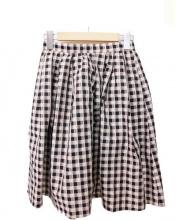TOCCA(トッカ)の古着「ギャザースカート」 ベージュ×ブラック