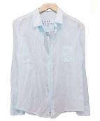 Frank&Eileen(フランクアンドアイリーン)の古着「コットンボイルガーゼシャツ」|ライトブルー