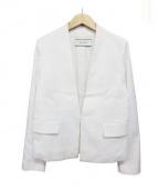 DES PRES(デプレ)の古着「ノーカラージャケット」|ホワイト
