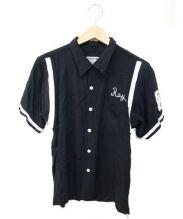 HOUSTON(ヒューストン)の古着「ボーリングシャツ」|ブラック
