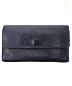 IL BISONTE(イルビゾンテ)の古着「2つ折り長財布」 ブラック