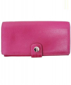 PICARD(ピカール)の古着「2つ折り長財布」|ショッキングピンク