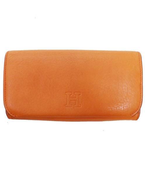 16781c857d17 中古・古着通販】HIROFU (ヒロフ) 2つ折り財布 オレンジ サイズ:下記参照 ...