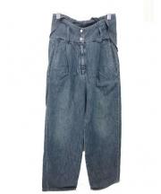 MM6(エムエムシックス)の古着「サスペンダー付デニムパンツ」|インディゴ