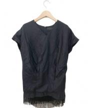 AKIRA NAKA(アキラナカ)の古着「フリンジブラウス」 ブラック