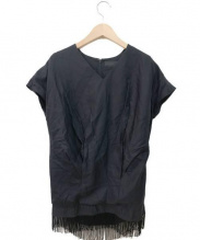AKIRA NAKA(アキラナカ)の古着「フリンジブラウス」|ブラック