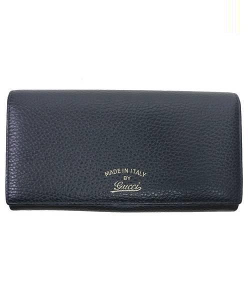 GUCCI(グッチ)GUCCI (グッチ) 2つ折り長財布 ブラック サイズ:下記参照 スウィング  354498の古着・服飾アイテム