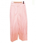 BALLSEY(ボールジィ)の古着「ワイドセンタープレスパンツ」|ピンク