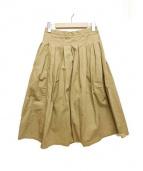 GRANDMA MAMA DAUGHTER(グランマママドーター)の古着「ロングチノプリーツスカート」|ベージュ