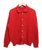 KAIKO(カイコ)の古着「POLO NECK CARDIGAN」|レッド