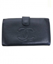 CHANEL(シャネル)の古着「ココマーク2つ折りがま口財布」|ブラック