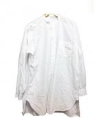 COMOLI(コモリ)の古着「BAND CALLOR SHIRT」 ホワイト