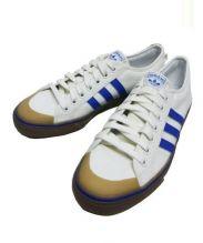 adidas originals(アディダスオリジナル)の古着「キャンバスローカットスニーカー」 オフホワイト×ブルー