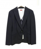 DES PRES(デプレ)の古着「トロピカルストレッチピークドラペルジャケット」|ブラック