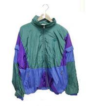 NIKE(ナイキ)の古着「ヴィンテージナイロンジャケット」|グリーン×ブルー×パープル