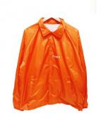 F.A.M.T(ファックアートメイクティーズ)の古着「コーチジャケット」|オレンジ