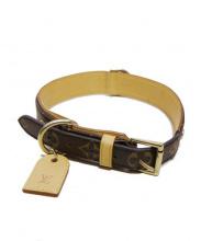 LOUIS VUITTON(ルイ・ヴィトン)の古着「首輪(中型犬用)」|ブラウン