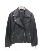 Mila Owen(ミラオーウェン)の古着「ラムレザーライダースジャケット」|ブラック