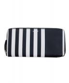 agnes b voyage(アニエスベーボヤージュ)の古着「ラウンドファスナー長財布」|ホワイト×ブラック