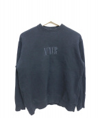 G.V.G.V.(ジーブイジーブイ)の古着「クルーネックスウェット」|ブラック