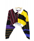 Palm Angels(パーム・エンジェルス)の古着「ポロシャツ」 ボルドー イエロー