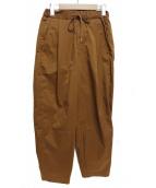 UNITED TOKYO(ユナイテッドトーキョー)の古着「タスランストレッチリラックスパンツ」|ブラウン