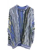 coogi(クージー)の古着「総柄ニット」|ブルー
