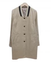 BARNYARDSTORM(バーンヤードストーム)の古着「リネン混ロングブルゾン」|ベージュ