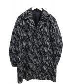 Calvin Klein(カルバンクライン)の古着「チェスターコート」|ブラック×ホワイト