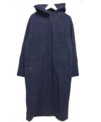 iCB(アイシービー)の古着「カシミヤ混ロングコート」|ネイビー